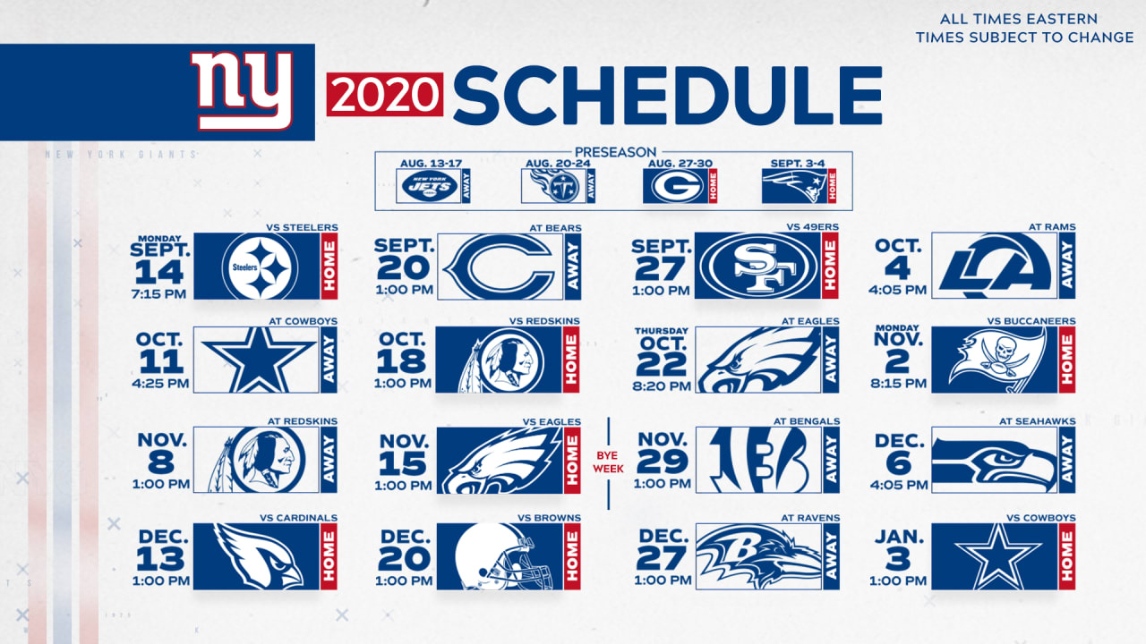 Ny Giants Schedule 2021 Calendar Printable March