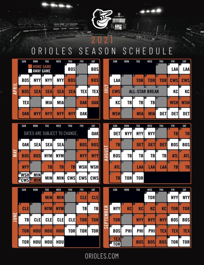 Orioles Back In Boston For 2021 Opening Day School Of Roch
