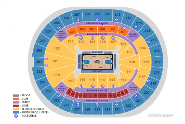 Orlando Magic Home Schedule 2019 20 Seating Chart