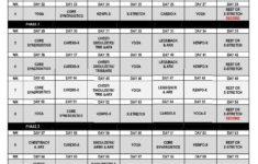 P90X Lean Workout Schedule Calendar P90X Lean Workout