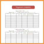Payment Schedule Template 6 Budget Planner Template