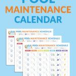 Pool Maintenance Schedule Template Printable Schedule