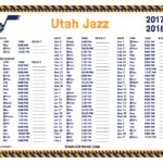 Printable 2017 2018 Utah Jazz Schedule