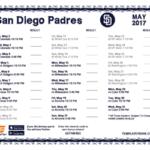 Printable 2017 San Diego Padres Schedule