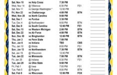 Printable 2018 2019 Michigan Wolverines Basketball Schedule