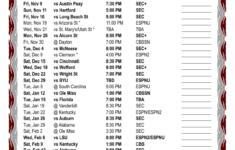 Printable 2018 2019 Mississippi State Bulldgos Basketball
