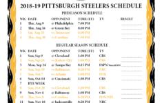 Steelers Printable Schedule