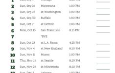Packers Printable Schedule
