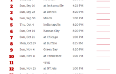 Printable 2018 New England Patriots Football Schedule