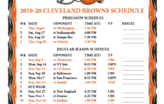 Cleveland Browns Printable Schedule