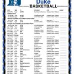 Printable 2019 2020 Duke Blue Devils Basketball Schedule
