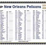 Printable 2019 2020 New Orleans Pelicans Schedule