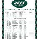 Printable 2019 2020 New York Jets Schedule
