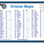 Printable 2019 2020 Orlando Magic Schedule