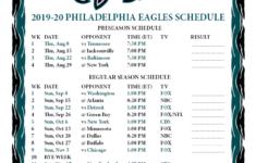 Printable Eagles Schedule