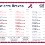 Printable 2019 Atlanta Braves Schedule