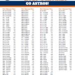 Printable 2019 Houston Astros Schedule Astros Astros