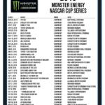 Printable 2019 NASCAR Schedule