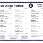 Printable 2019 San Diego Padres Schedule