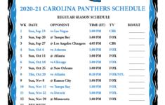 Printable 2020 2021 Carolina Panthers Schedule