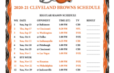 Printable Cleveland Browns Schedule 2021