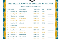 Printable 2020 2021 Jacksonville Jaguars Schedule