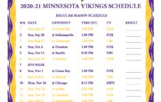 Printable Vikings Schedule 2021