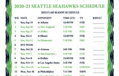 Seahawks 2021 Printable Schedule