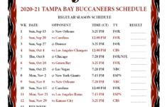 Printable 2020 2021 Tampa Bay Buccaneers Schedule