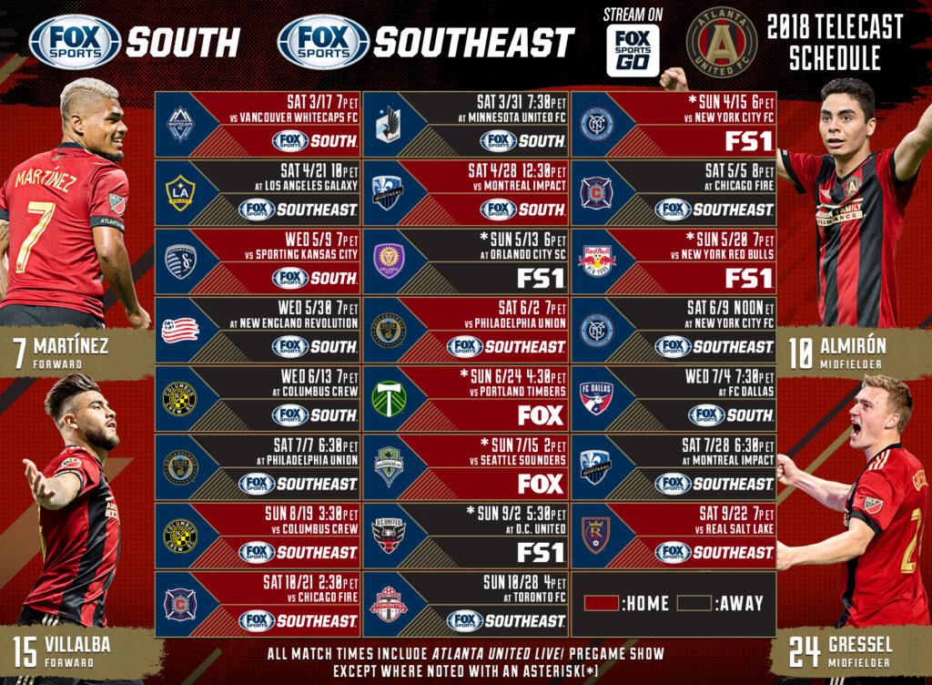 Printable Atlanta United Schedule Download Them Or Print