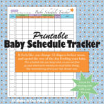 Printable Baby Schedule Tracker And Twins Schedule Tracker