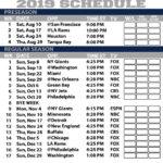 Printable Dallas Cowboys 2019 Schedule Cowboys Schedule