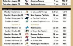 Printable New Orleans Saints Schedule PrintAll