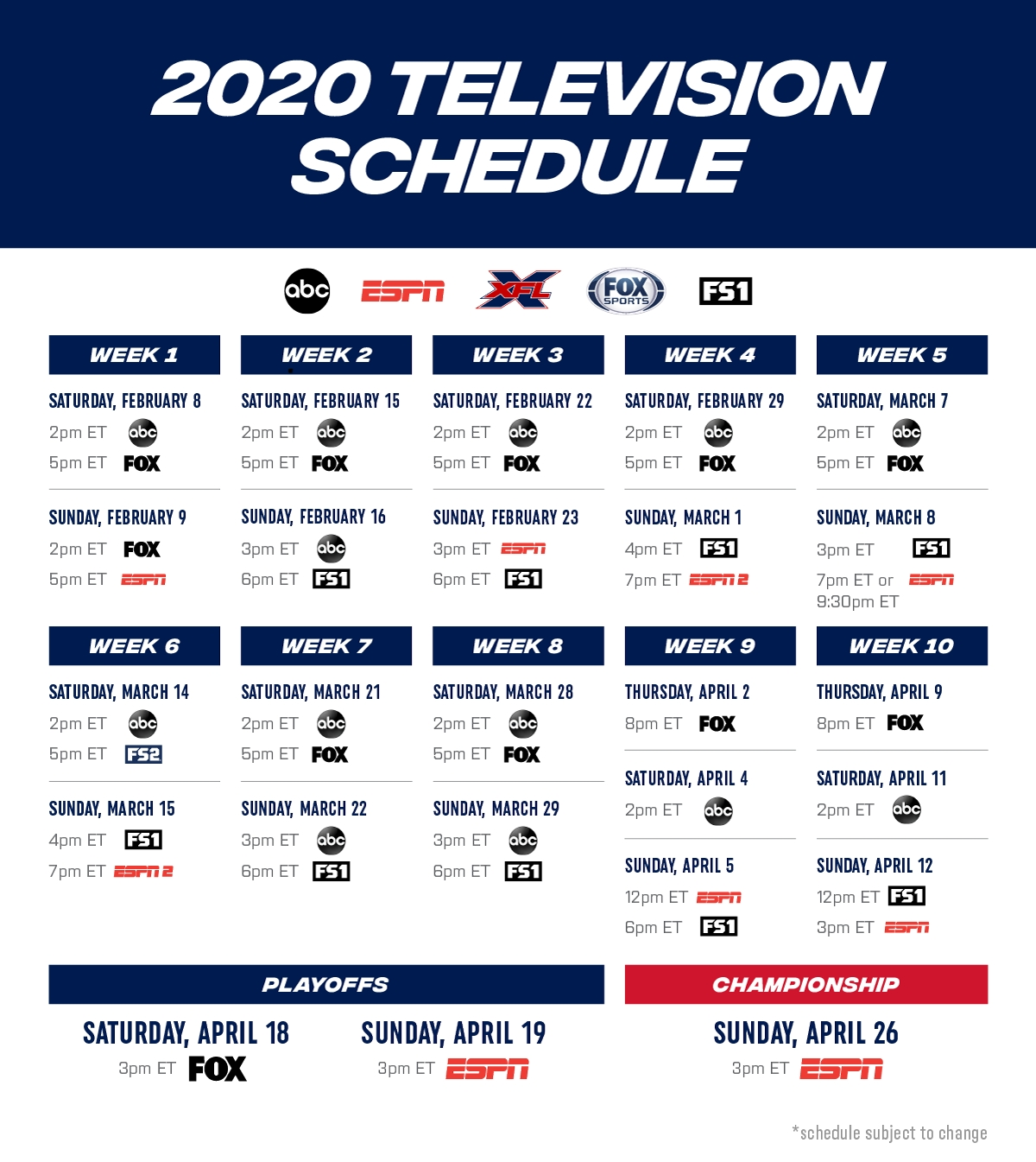 Printable Nfl Schedule 2019 2020 Season Calendar