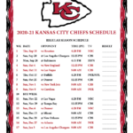 Printable Nfl Schedule For 2021 Calendar Printables
