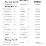 Printable NFL Week 10 Schedule Pick Em Pool 2020