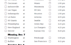 Printable NFL Week 13 Schedule Pick Em Pool 2020