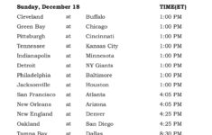 Printable NFL Week 15 Schedule Pick Em Office Pool 2016
