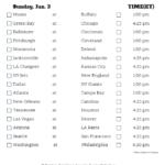 Printable NFL Week 17 Schedule Pick Em Pool 2020