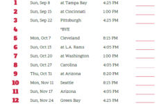 Printable San Francisco 49ers Schedule 2019 Season San