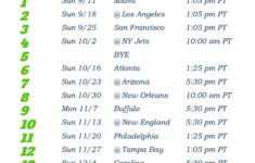 Printable Seattle Seahawks Pacific Time Schedule