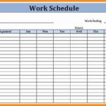 Printable Work Schedule Calendar Monthly Schedule Template