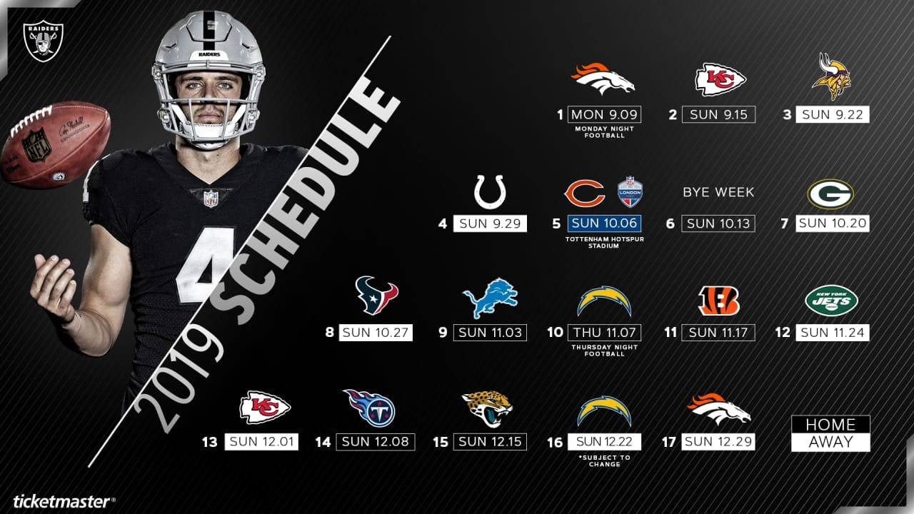 Raiders Handed Tough Hill To Climb With 2019 Schedule