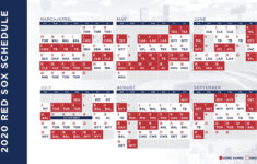 Red Sox Schedule 2021 Printable