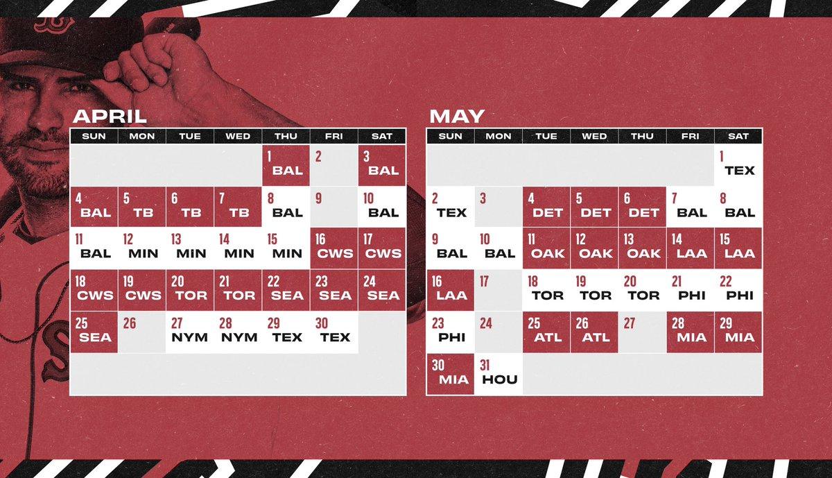 Red Sox Schedule Calendar 2021