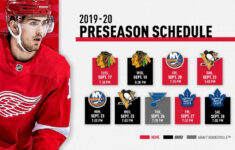 Red Wings Announce 2019 20 Preseason Schedule NHL