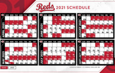 Cincinnati Reds Schedule 2021 Printable