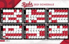 Reds 2021 Schedule Printable