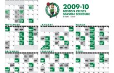 Schedule CelticsLife Boston Celtics Fan Site Blog