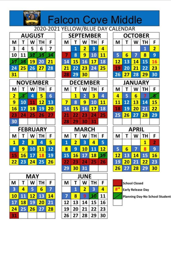School Info A B Blue Yellow Schedule Free 2021